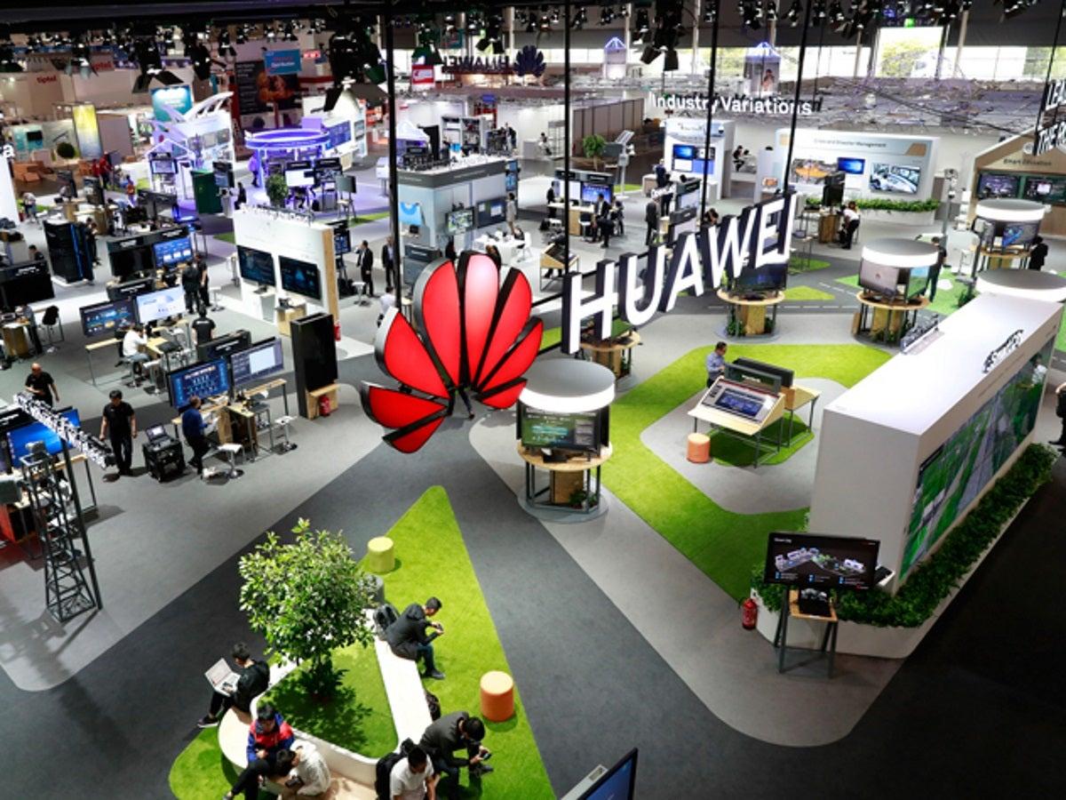 Huawei-Stand auf der CeBIT 2018.