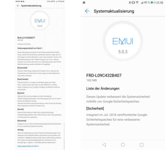 Huawei Honor 6X und Honor 8 Update