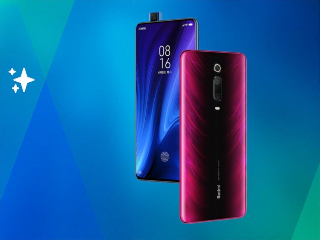Huawei K20 Pro auf blauem Grund
