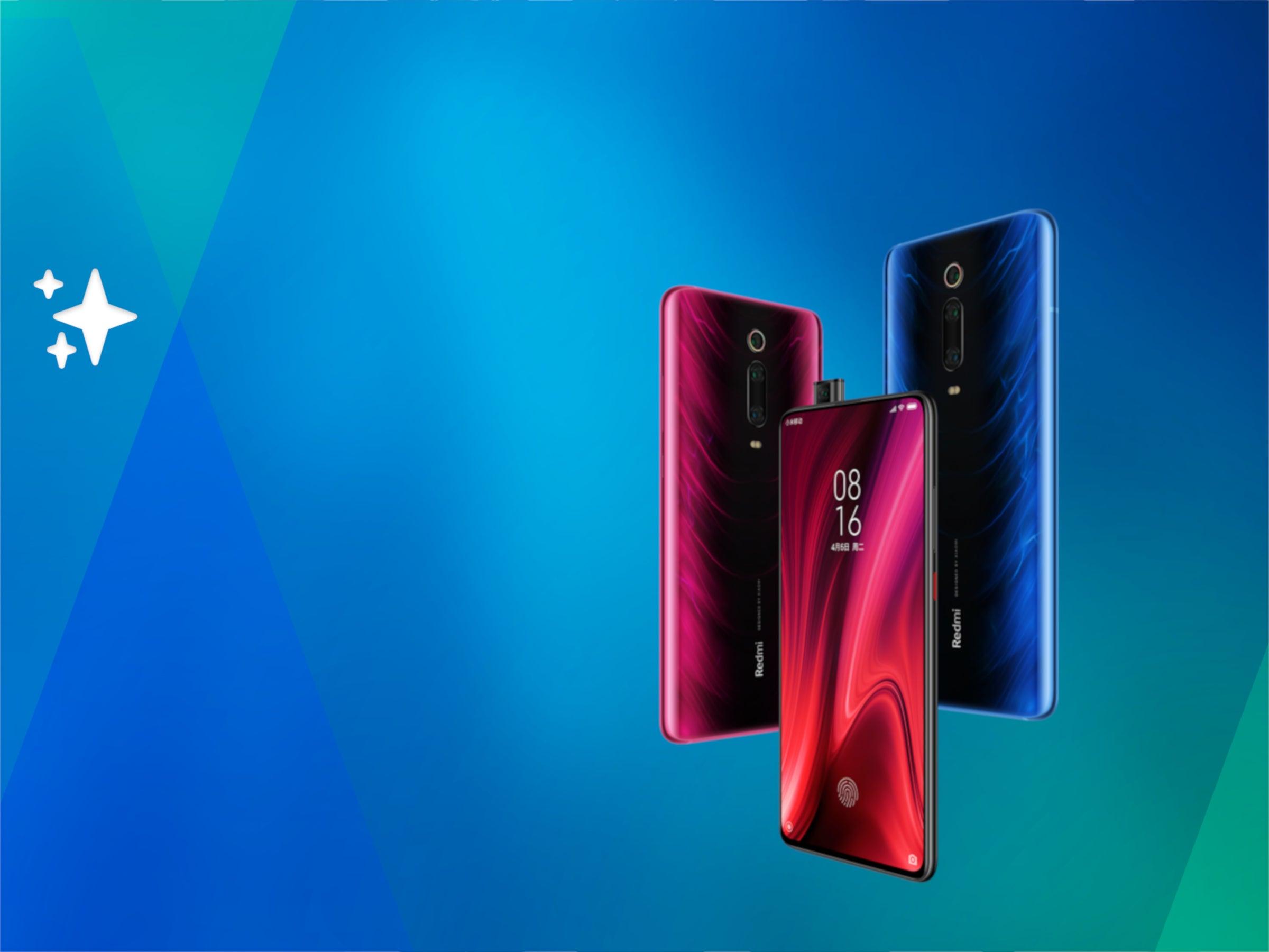 Huawei K20 Pro vor blauem Huntergrund