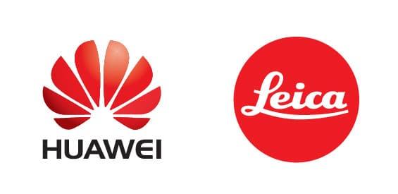 Logos von Huawei und Leica