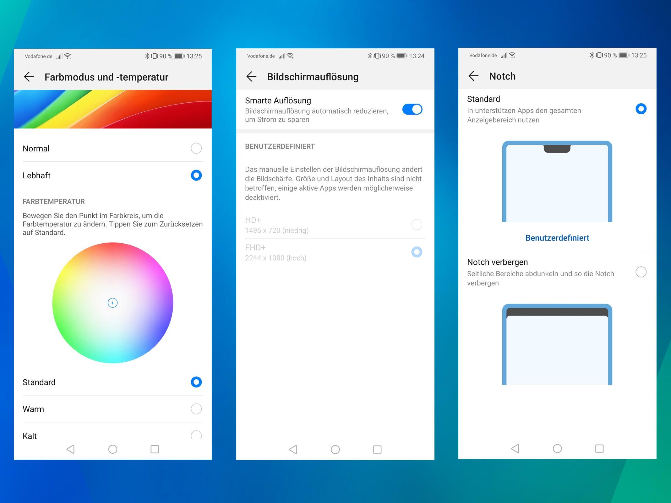 Huawei Mate 20: Display-Einstellungen
