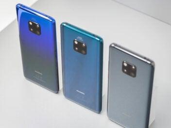 Huawei Mate 20 Pro in den Farben Twilight, Grün und Schwarz