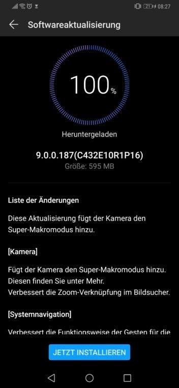 Changlog des Huawei-Mate-20-Pro-Updates