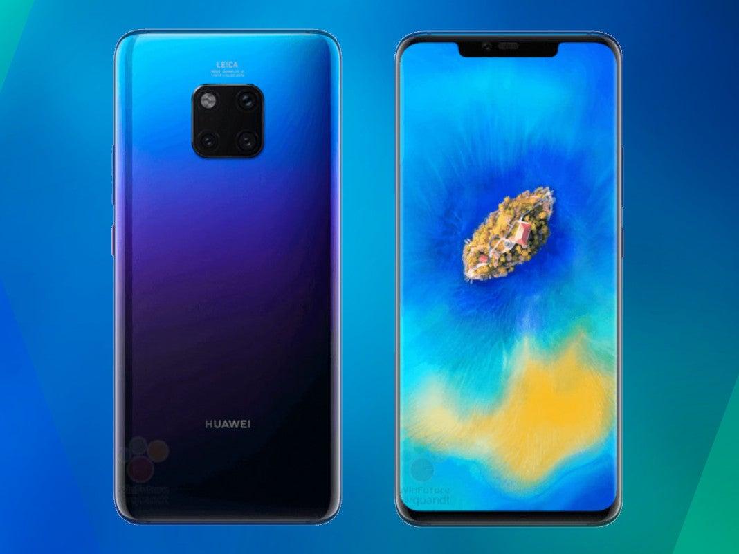 Huawei Mate 20 Pro von vorne und hinter
