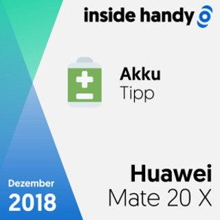 Das Akku-Tipp-Testsiegel des Huawei Mate 20 X
