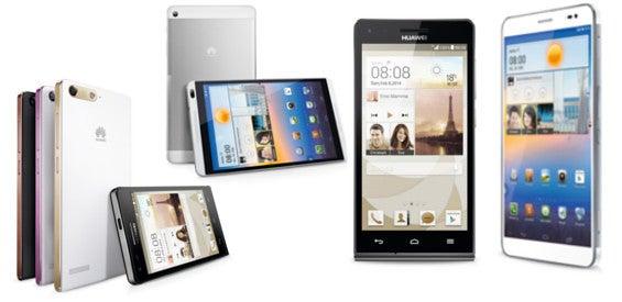 Huawei MWC Geräte Ascend P7 Mini G6 MediaPad Z1 und M1