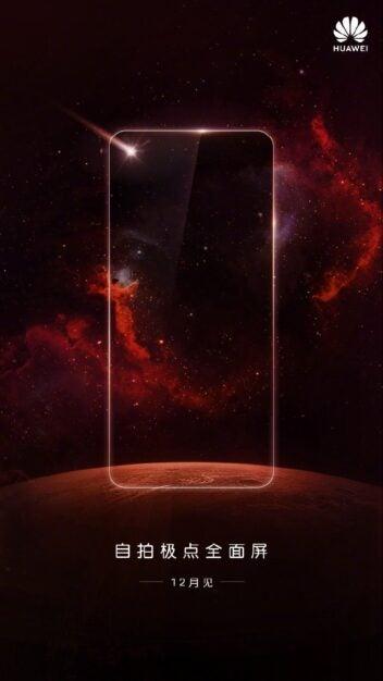 Huawei Nova 4 Teaserplakat Launch-Event