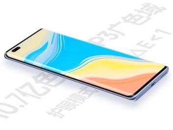 Huawei Nova 9 Pro flach liegend.