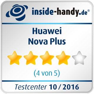 Testsiegel des Huawei Nova Plus: 4 Sterne