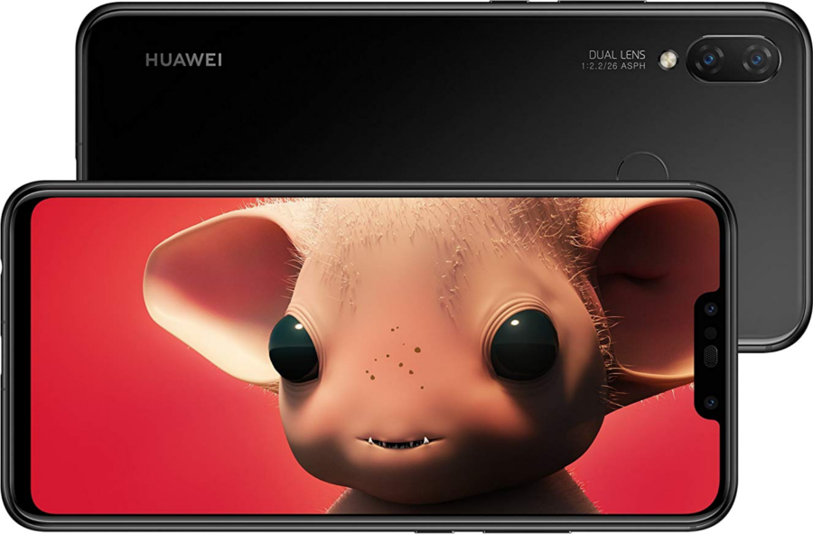 Huawei P Smart+ Schwarz Front Hinten