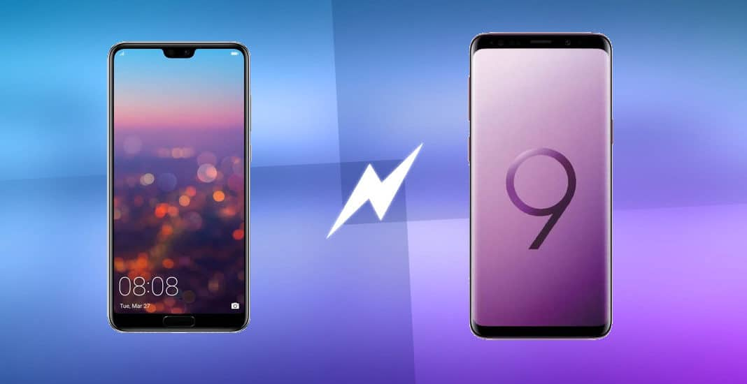 Huawei P20 gegen Samsung Galaxy S9