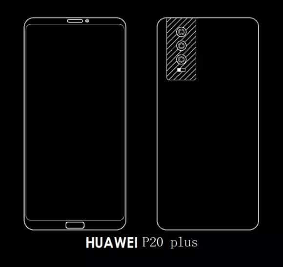 Huawei P20, P20 Plus, P20 Pro: Skizzen