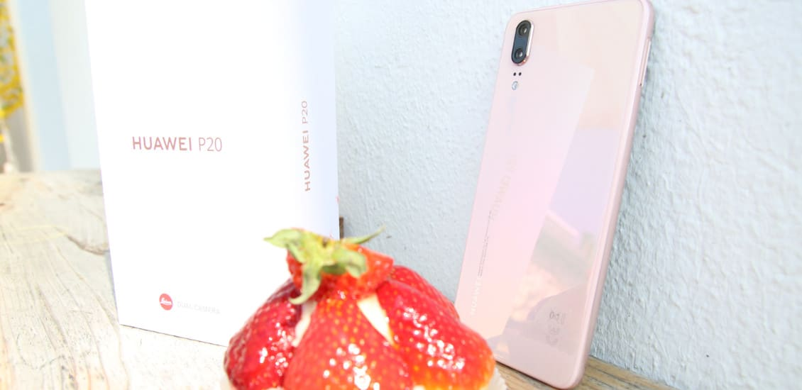 Huawei, P20, Smartphone, Kuchen, Sonne, Verpackung