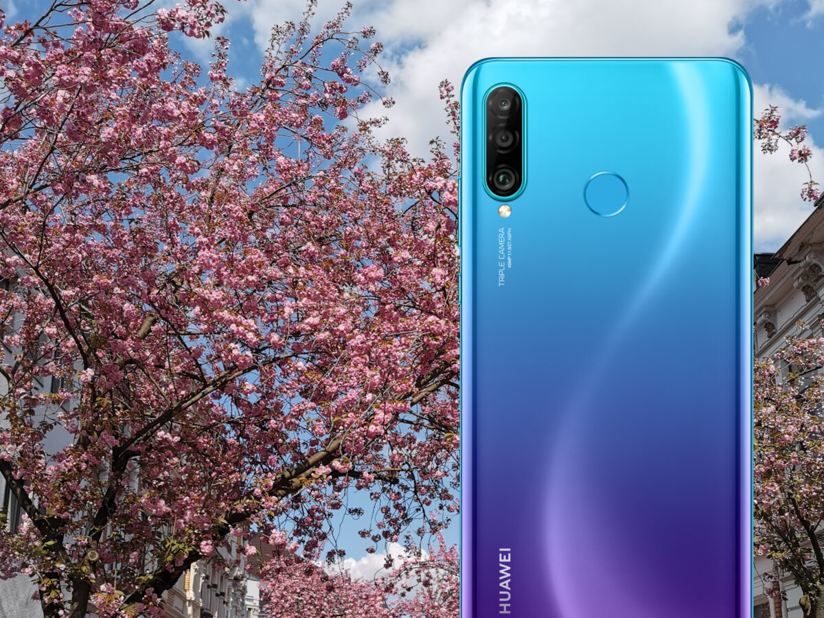 Huawei P30 lite in der Farbe Peacock