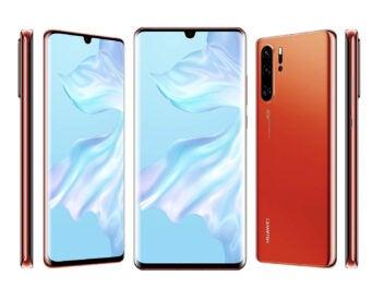 Huawei P30 Pro in Sunrise Red von allen Seiten