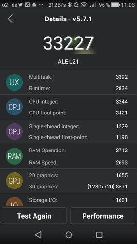 Huawei P8 Lite AnTuTu-Benchmarktest