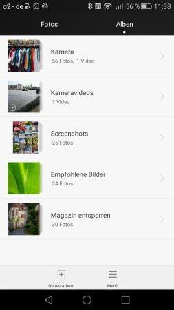 Huawei P8: Screenshots