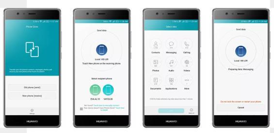 kontaktliste vom handy huawei auf handy iphone übertragen