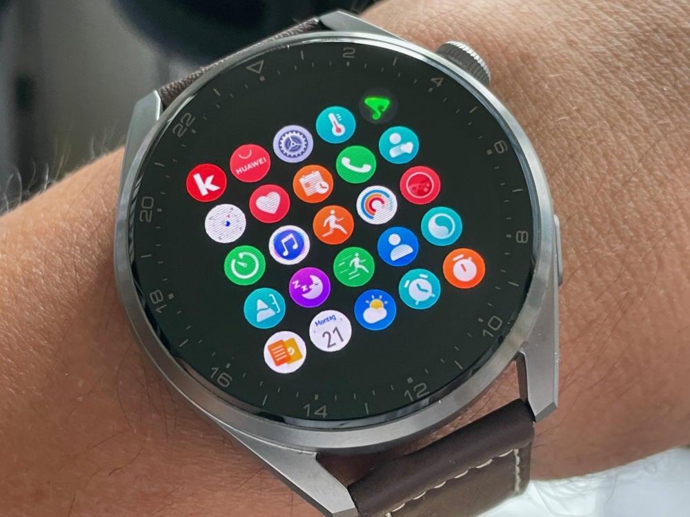 Huawei Watch 3 Pro mit HarmonyOS Menü