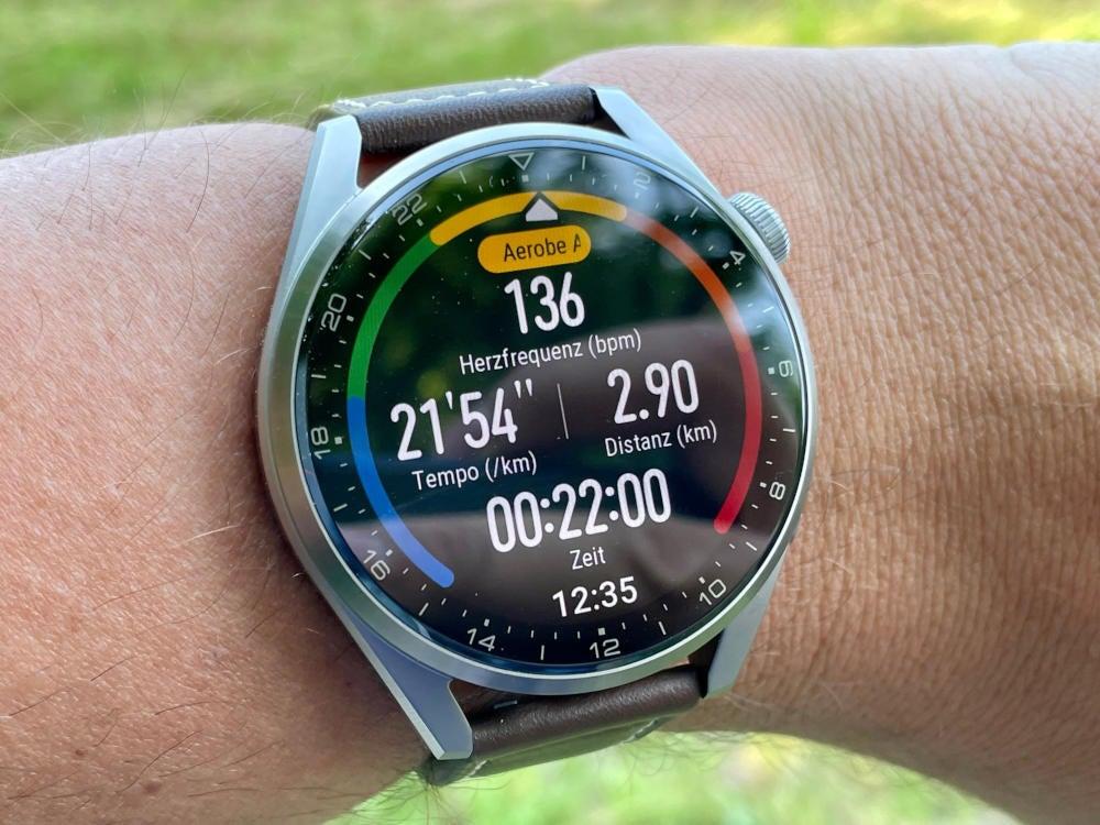 Huawei Watch 3 Pro im Trainingsmodus