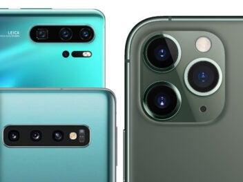 iPhone, P30 Pro und Galaxy S10 im Vergleich der Rückseiten