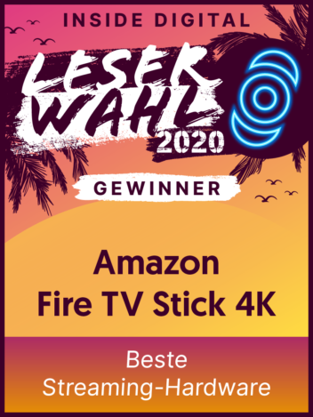 Leserwahl 2020 Siegel: Gewinner Beste Streaming-Hardware