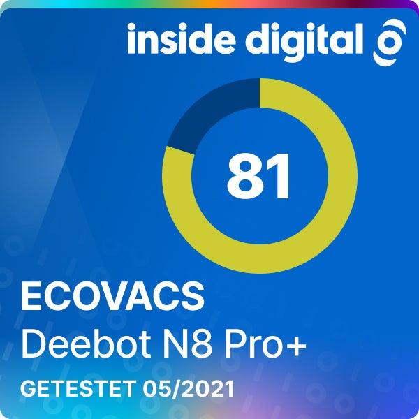 Ecovacs Deebot N8 Pro+ Testsiegel mit 81 von 100 Prozent