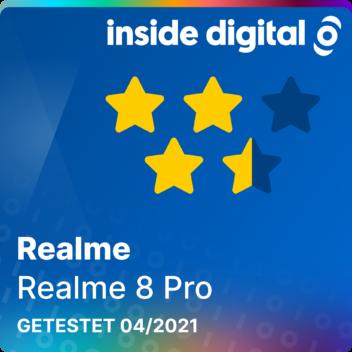 Testsiegel Realme 8 Pro