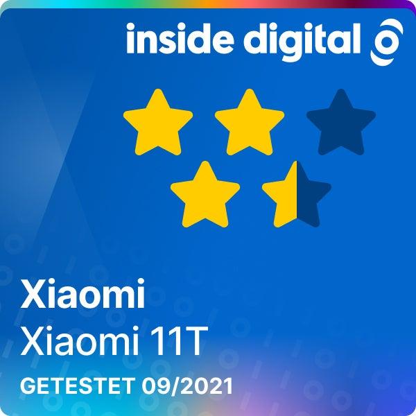 Xiaomi 11T Testsiegel mit 3,5 von 5 Sternen