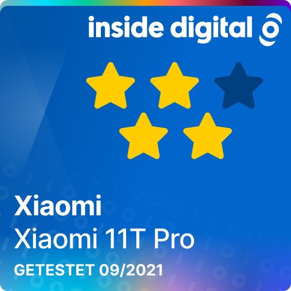Xiaomi 11T Pro Testsiegel mit 4 von 5 Sternen