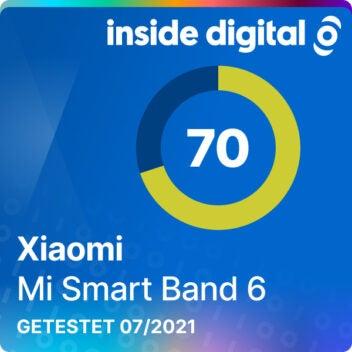 Xiaomi Mi Band 6 Testsiegel 70 von 100 Punkten
