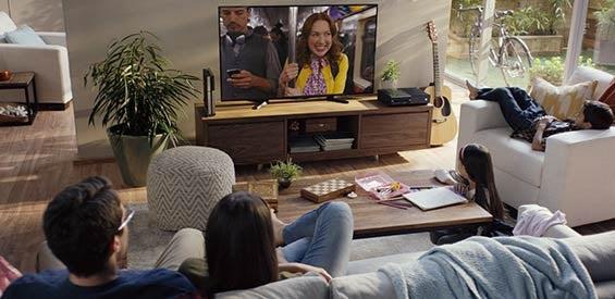 Videostreaming mit einem Smart-TV (Symbolbild)