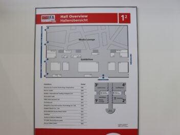 Der Hallenplan der IFA 2020