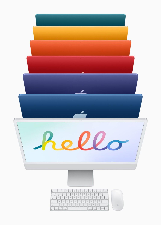 Der neue iMac in 7 Farben