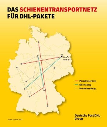 Das sind die DHL-Zug-Verbindungen