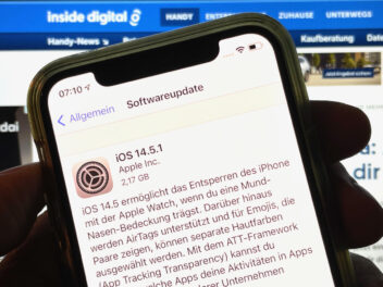 Screenshot des iOS 14.5.1 Updates