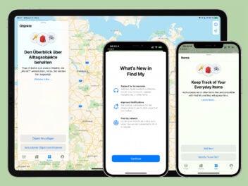 iOS 14.5 Beta 3 Hinweis der Wo-ist-App