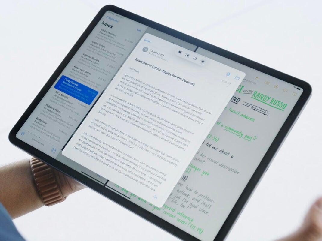 Multitasking in iPadOS 15