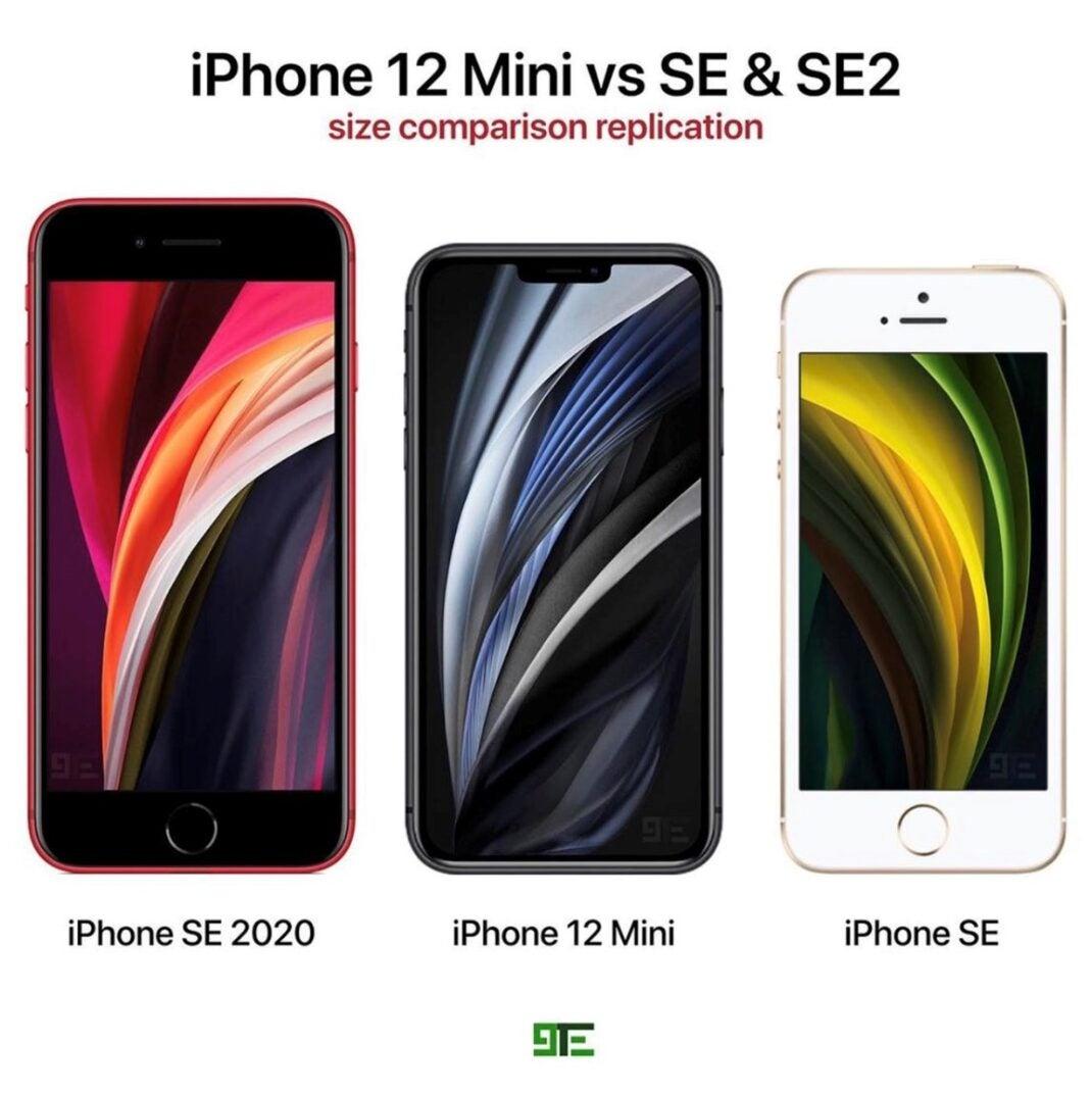 Apple iPhone 12 Mini im Vergleich mit dem iPhone SE 2020 und dem ersten iPhone SE