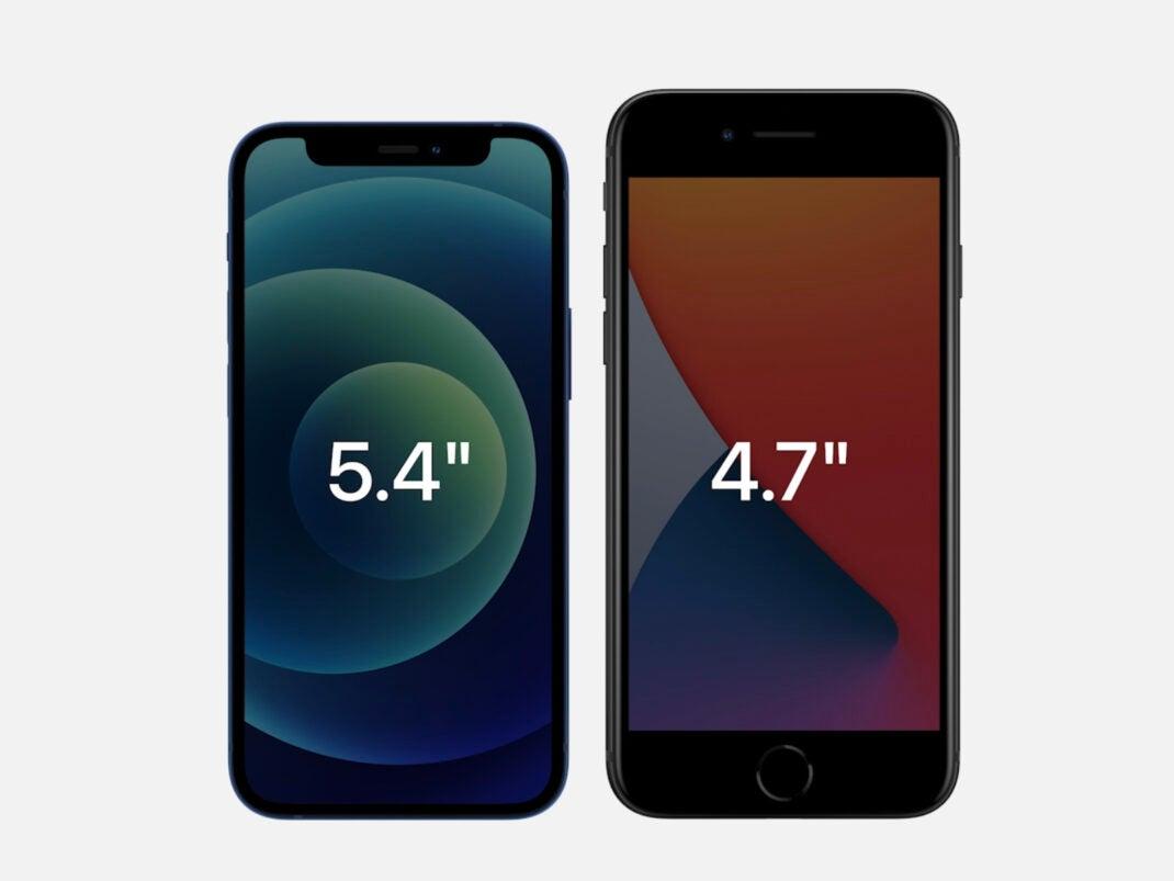 Das iPhone 12 mini im Größenvergleich