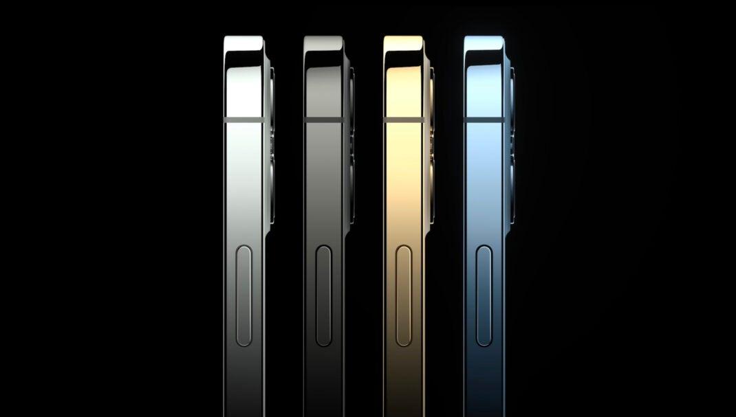 Die vier verschiedenen Farben des iPhone 12 Pro (Max)