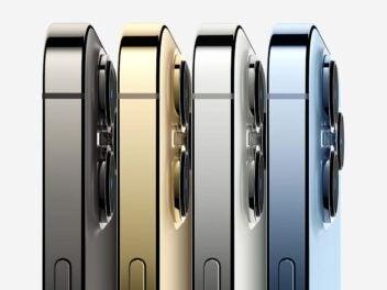 Seitenansicht von Apples iPhone 13 Pro