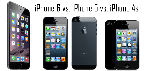 iPhone 6 vs. iPhone 5 vs. iPhone 4s