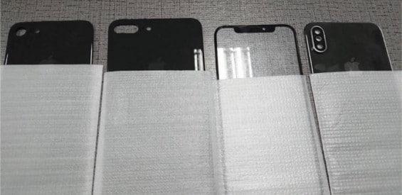 iPhone 8, 7s und 7s Plus Rückseiten Gerüchtebild
