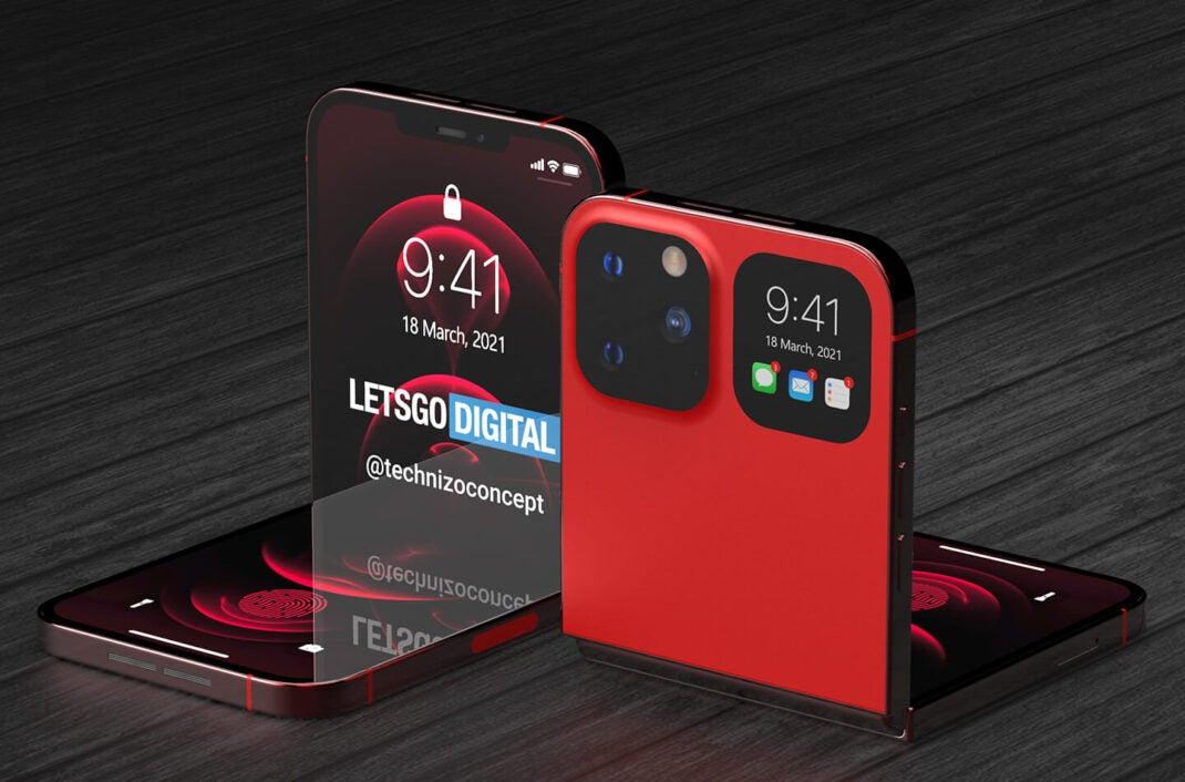 Designkonzept eines faltbaren iPhone