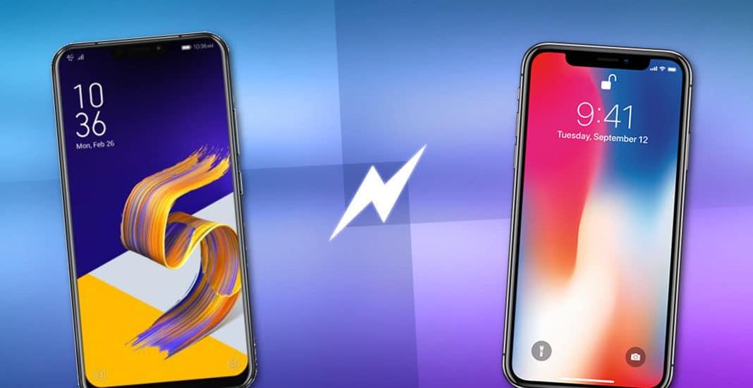 Iphone X vs Asus ZenFone 5Z