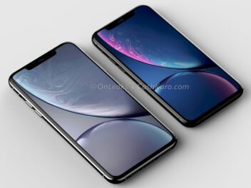 Das Display des iPhone XI und iPhone XI Max mit breiter Notch.