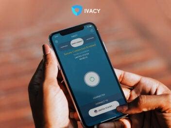 Ivacy VPN auf einem Smartphone