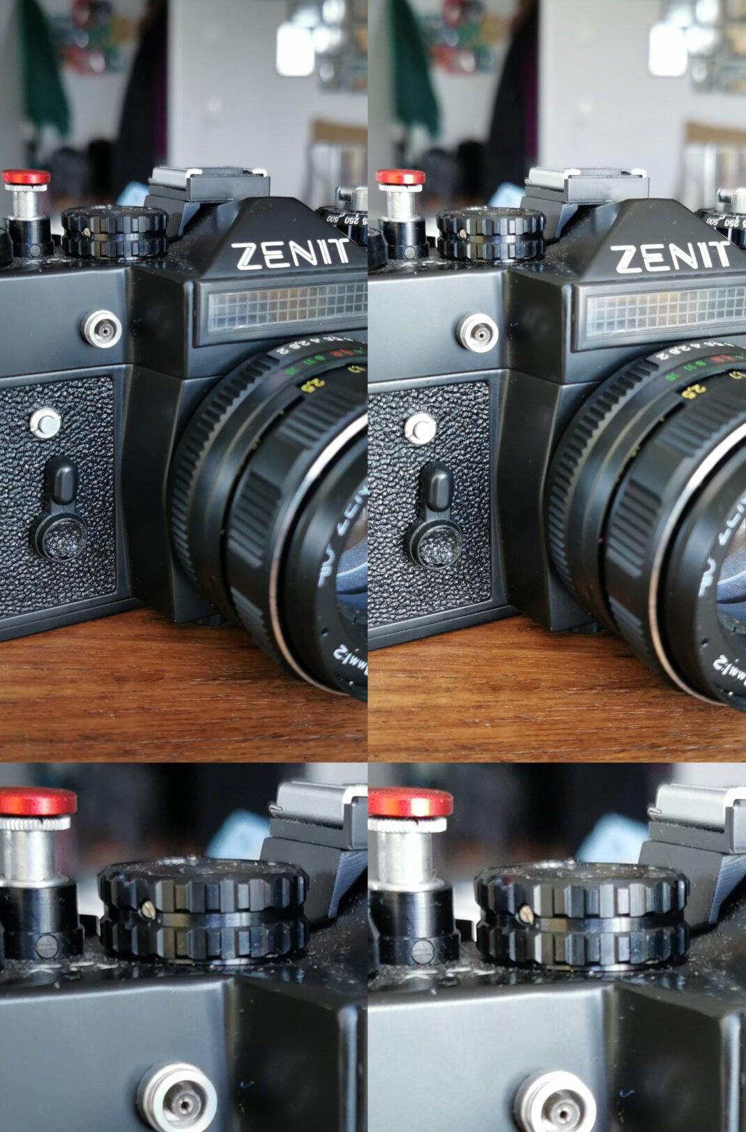 Kamera-Test: Foto geschossen mit der Hersteller-App (links) und WhatsApp (rechts).